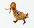 Estate Jewelry:Brooches - Pins, Diamond, Enamel, Gold Duck Brooch. ...