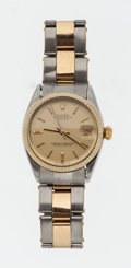 Timepieces:Wristwatch, Rolex Ref. 6827 Mid-Size Two Tone Oyster Perpetual Datejust, circa 1977. ...