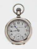 Timepieces:Pocket (post 1900), Hamilton 21 Jewels 18 Size Coin Silver Pocket Watch. ...