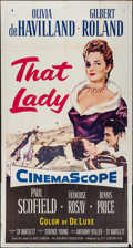 "Movie Posters:Adventure, That Lady (20th Century Fox, 1955). Three Sheet (41"" X 78"").Adventure.. ..."