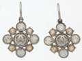 Luxury Accessories:Accessories, Chanel Silver Drop Earrings with Large Crystal Detail. ...