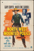 "Movie Posters:Adventure, North West Mounted Police (Paramount, R-1958). One Sheet (27"" X41""). Adventure.. ..."