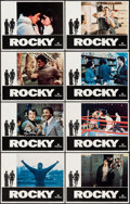 "Movie Posters:Academy Award Winners, Rocky (United Artists, 1977). Lobby Card Set of 8 (11"" X 14"").Academy Award Winners.. ... (Total: 8 Items)"