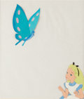 Animation Art:Production Cel, Alice in Wonderland Alice and Caterpillar Production Cel(Walt Disney, 1951)....