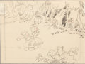 Animation Art:Production Drawing, Babes In the Woods Hansel and Gretel Layout Drawing (WaltDisney, 1932)....