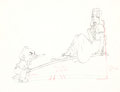 Animation Art:Production Drawing, Mother Goose Goes Hollywood Edward G. Robinson and GretaGarbo Production Drawing (Walt Disney, 1938)....