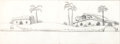 Animation Art:Production Drawing, The Flintstones Background Pan Production Drawing(Hanna-Barbera, c. 1960s)....