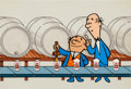 Animation Art:Production Cel, Piels Beer Commercial Production Cel Set-Up and Background(1960s)....