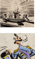 Animation Art:Production Drawing, Cinderella Storyboard Group (Walt Disney, 1950).... (Total:2 Items)