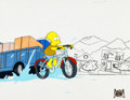 Animation Art:Production Cel, The Simpsons Bart Production Cel Set-Up (Fox, 1990)....