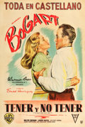 "Movie Posters:Romance, To Have and Have Not (Warner Brothers, 1944). Argentinean One Sheet(29"" X 43"").. ..."