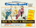 "Movie Posters:Comedy, How to Marry a Millionaire (20th Century Fox, 1953). Half Sheet(22"" X 28"").. ..."