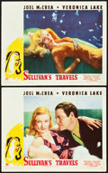 "Movie Posters:Comedy, Sullivan's Travels (Paramount, 1941). Lobby Cards (2) (11"" X 14"")..... (Total: 2 Items)"