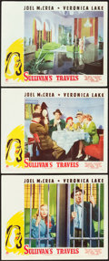 "Movie Posters:Comedy, Sullivan's Travels (Paramount, 1941). Lobby Cards (3) (11"" X 14"")..... (Total: 3 Items)"