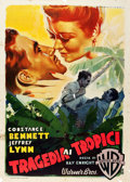 "Movie Posters:Crime, Law of the Tropics (Warner Brothers, 1948). First Post-War ReleaseItalian 2 - Foglio (39"" X 55""). Crime.. ..."