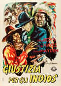 "Movie Posters:Western, Hills of Old Wyoming (Ameritalia Film, Early 1950s). Italian 2 -Foglio (38"" X 54"").. ..."