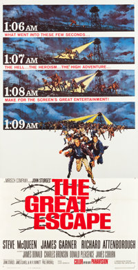 """The Great Escape (United Artists, 1963). Three Sheet (41"""" X 80"""")"""