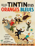 """Movie Posters:Foreign, Tintin and the Blue Oranges (Pathe Consortium Cinema, 1964). French Affiche (23"""" X 31"""").. ..."""