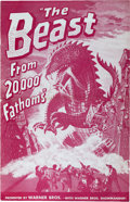 "Movie Posters:Science Fiction, The Beast from 20,000 Fathoms (Warner Brothers, 1953). Pressbook(24 Pages, 11"" X 17"").. ..."