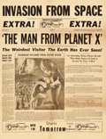 "Movie Posters:Science Fiction, The Man from Planet X (United Artists, 1951). Pressbook (8 Pages,17"" X 22"") and Herald (17"" X 22"").. ... (Total: 2 Items)"