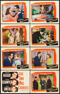 """The Two Mrs. Carrolls (Warner Brothers, 1947). Lobby Card Set of 8 (11"""" X 14""""). ... (Total: 8 Items)"""