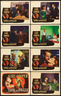 "Cloak and Dagger (Warner Brothers, 1946). Lobby Card Set of 8 (11"" X 14""). ... (Total: 8 Items)"