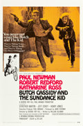 "Movie Posters:Western, Butch Cassidy and the Sundance Kid (20th Century Fox, 1969). OneSheet (27"" X 41"") Style B.. ..."