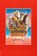 """Movie Posters:Comedy, Blazing Saddles (Warner Brothers, 1974). Signed One Sheet (27"""" X41"""") Advance.. ..."""