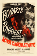 "Movie Posters:War, Action in the North Atlantic (Warner Brothers, 1943). One Sheet(27"" X 41"").. ..."