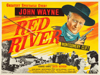 "Red River (United Artists, R-1950s). British Quad (30"" X 40"")"
