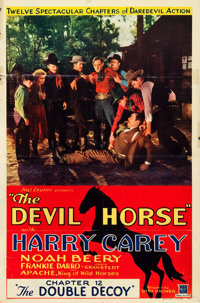 """The Devil Horse (Mascot, 1932). One Sheet (27"""" X 41"""") Chapter 12 -- """"The Double Decoy."""""""