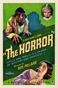 """Movie Posters:Horror, The Horror (Bud Pollard Productions, 1932). One Sheet (27"""" X 41"""").. ..."""