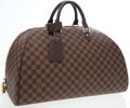 Luxury Accessories:Travel/Trunks, Louis Vuitton Brown Damier Ribera Duffle Bag. ...