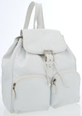 Luxury Accessories:Bags, Bottega Veneta White Leather Backpack Bag. ...