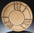 American Indian Art:Baskets, A CHEMEHUEVI COILED TRAY. c. 1920...