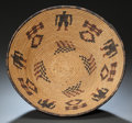 American Indian Art:Baskets, AN APACHE PICTORIAL POLYCHROME BOWL. c. 1900...