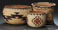 American Indian Art:Baskets, THREE NORTHERN CALIFORNIA TWINED BASKETRY ITEMS. c. 1900 - 1930.... (Total: 3 Items)