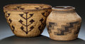 American Indian Art:Baskets, TWO NORTHERN CALIFORNIA TWINED BASKETRY ITEMS. c. 1900... (Total: 2Items)