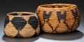 American Indian Art:Baskets, TWO CALIFORNIA COILED JARS. c. 1900... (Total: 2 Items)