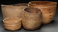 American Indian Art:Baskets, FOUR NORTHWEST COAST TWINED BASKETS... (Total: 4 Items)