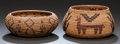 American Indian Art:Baskets, TWO WASHO COILED JARS. c. 1900... (Total: 2 Items)