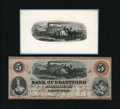 Canadian Currency: , Sault St. Marie, Canada West- Bank of Brantford $5 Nov. 1, 1859Charlton 40-12-08R. ... (Total: 2 items)