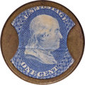 Encased Postage: , HB-44 EP-5 Scott-21 Reed-BC011¢ Bailey & Co. Choice About New..Numerical grade: 80case.75stamp.90mica. = 235...
