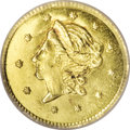 California Fractional Gold, 1859 50C Liberty Round 50 Cents, BG-1002, High R.4, MS66 ProoflikeNGC....