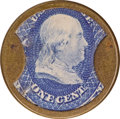 Encased Postage: , HB-225 EP-28 Scott-169 Reed-TA01 1¢ N & G Taylor Very Fine..Numerical grade: 70case.80stamp.70mica. = 220...