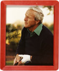 """Golf Collectibles:Autographs, Arnold Palmer Signed Photograph. Regarded as one of the greatestgolfers in history, Arnold Palmer adorned the 8x10"""" color ..."""