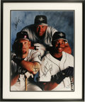 """Autographs:Photos, Alex Rodriguez/Jay Buhner/Ken Griffey Jr. Signed Photograph. Large15x20"""" color photograph of three of the greatest slugger..."""