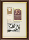 Autographs:Letters, Ted Williams Hall of Fame Card Framed and Mounted. Ted Williamsadded his distinctive signature to the Hall of Fame postcar...