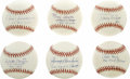 Autographs:Baseballs, 1961 New York Yankees Single Signed Baseballs Lot of 6. Each of themen who provide high quality singles for this lot were...
