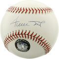 Autographs:Baseballs, Willie Mays Single Signed Baseball. Willie Mays enhanced the sweetspot of the OML orb with his succinct and strong signatu...